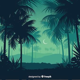 Тропический лес пейзажный фон