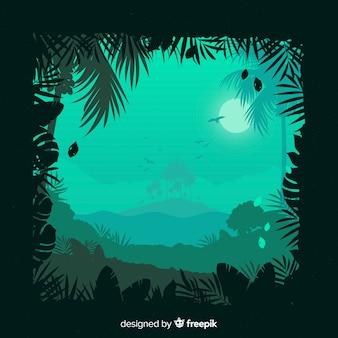 Пейзаж тропического леса фон