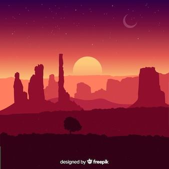 砂漠の風景の背景