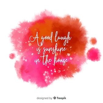 Положительное сообщение на красочной акварельной окраске