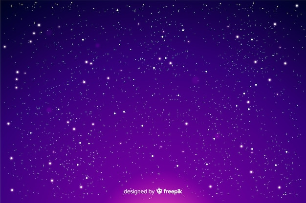 グラデーションの夜空の星