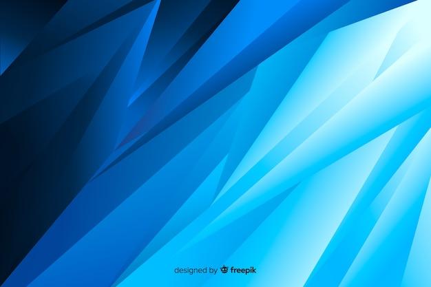 抽象的な右斜め青い図形の背景