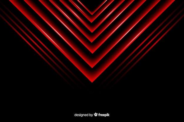 幾何学的な赤い三角形のライトの背景