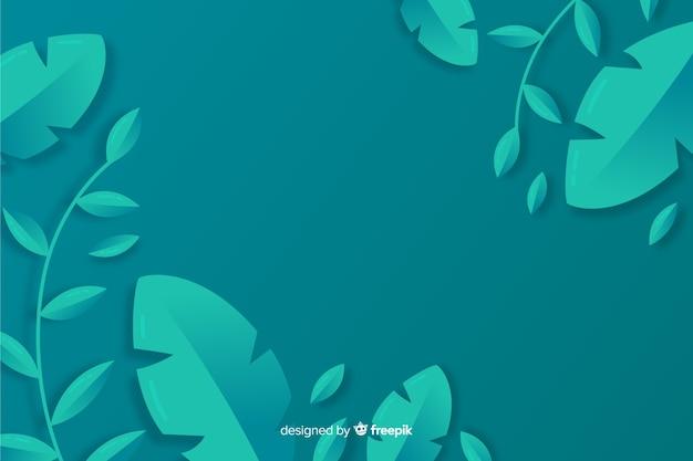 Монохромные листья с копией пространства