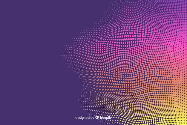 Яркий полутоновый эффект градиентного фона