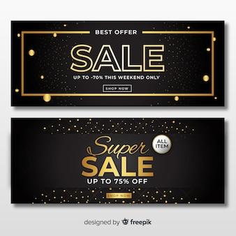 Золотой баннер продаж