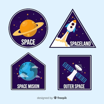 スペースステッカーのカラフルなコレクション