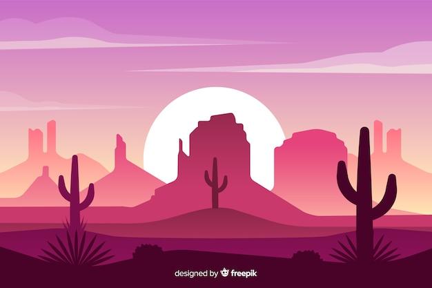 砂漠の美しい自然の配置