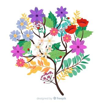 Элегантный букет цветов с разнообразием цветов
