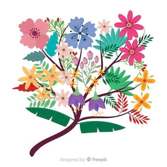 さまざまな色のエレガントな花の花束