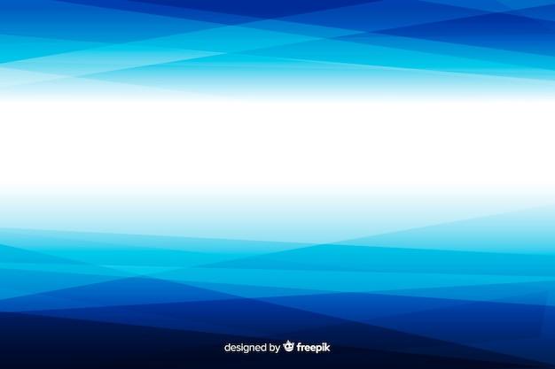 幾何学的なグラデーションの白と青の抽象的な背景