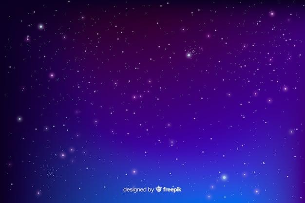 グラデーションブルー星空夜背景