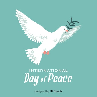 手描きの鳩の平和の日の概念