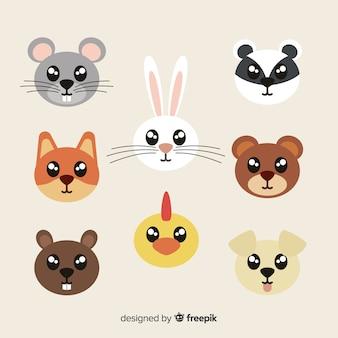 明るい目を持つかわいい動物コレクション
