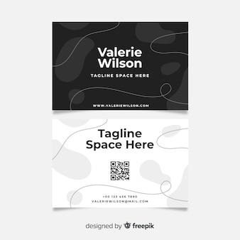 Абстрактная визитная карточка в черно-белом