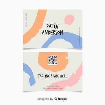 Абстрактная раскрашенная вручную визитная карточка компании