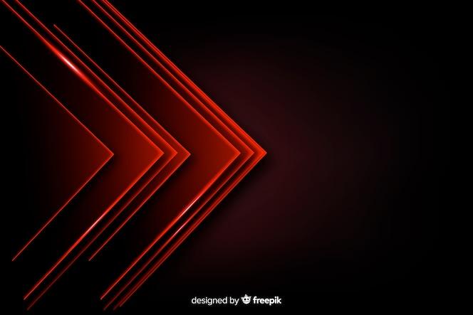 赤い三角形のライトの背景の山