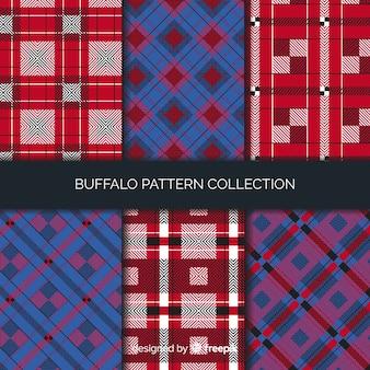 Красочная коллекция шаблонов буйволов