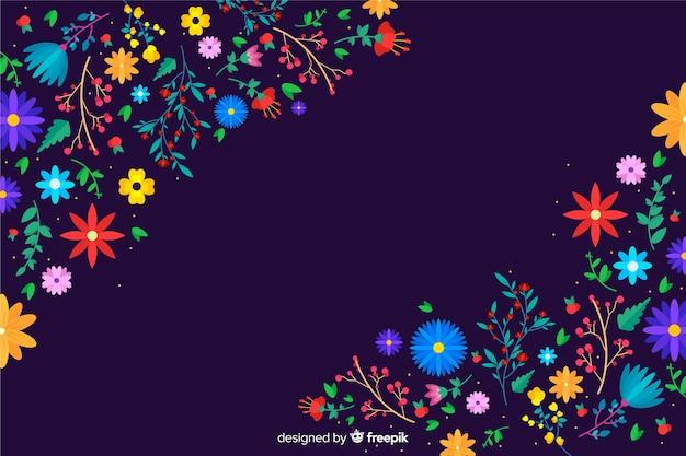 美しい色とりどりの花の背景