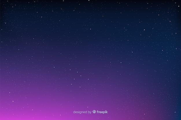 グラデーションの日の出と星空の背景