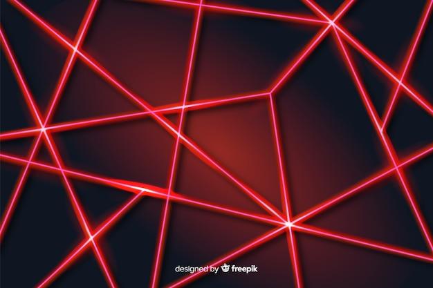 モダンな抽象的なレーザーラインの幾何学的な背景
