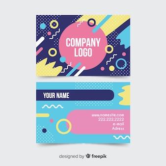 Шаблон визитки в стиле мемфис