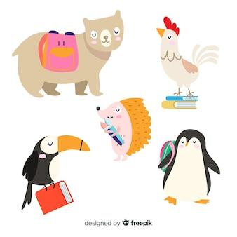 新学期イベントの動物コレクション