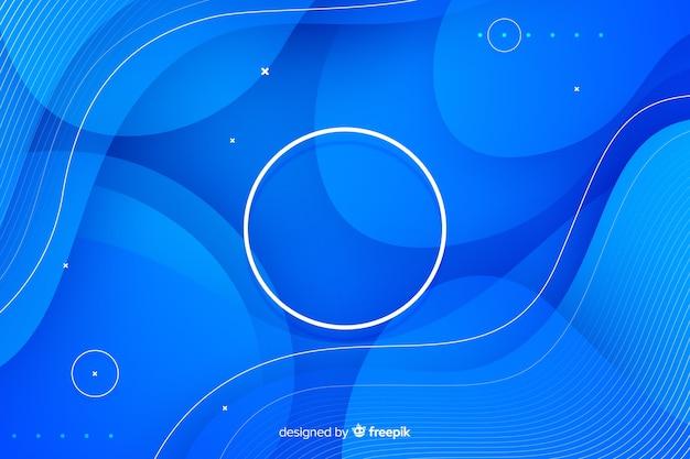 青い流れ図形の背景
