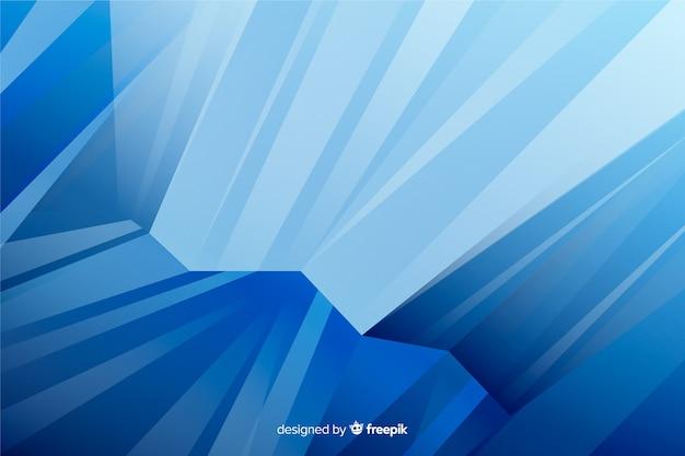 抽象的な水彩画の青い図形の背景