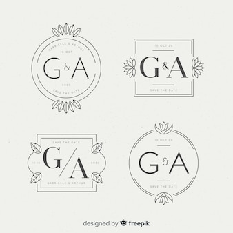 Красивые свадебные монограммы логотипы