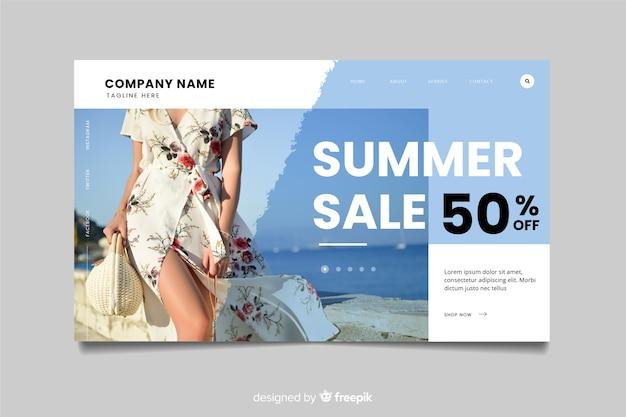 Продажа шаблона целевой страницы с фотографией