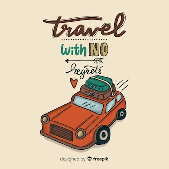 ポジティブなメッセージを込めた旅行レタリング