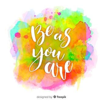 Мотивационная цитата на многоцветном пятне