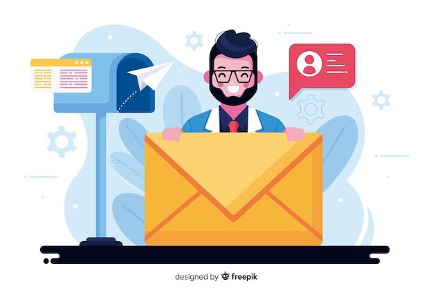 Иллюстрация концепции почтового ящика