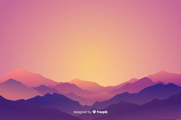 山の風景の勾配
