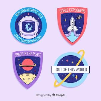Симпатичные космические наклейки