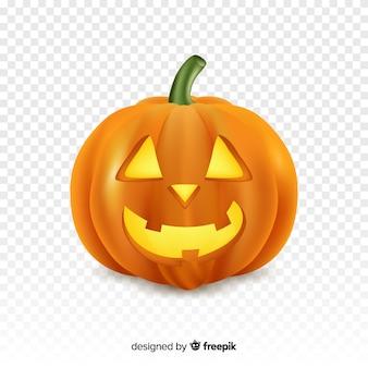 Реалистичная хэллоуин счастливая тыква с прозрачным фоном
