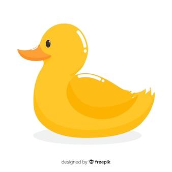 Иллюстрация милой желтой резиновой утки