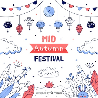 Рисованной середины осени фестиваль