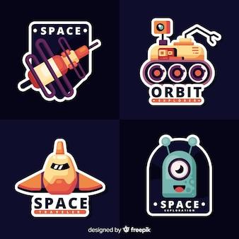 Коллекция симпатичных космических стикеров
