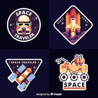 Пакет милых космических стикеров