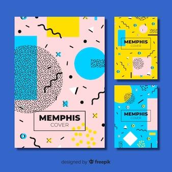 Мемфис дизайн обложки коллекции