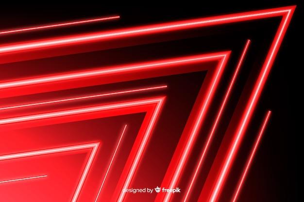赤い光と背景の幾何学的なスタイル