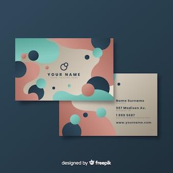 Шаблон визитной карточки в жидком стиле