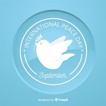 Концепция мирного дня с плоским дизайном голубя