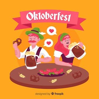 Мультфильм люди празднуют октоберфест