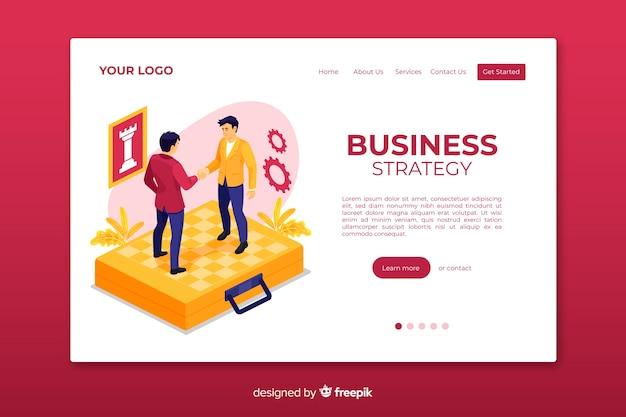 Веб-шаблон целевой страницы бизнес-стратегии