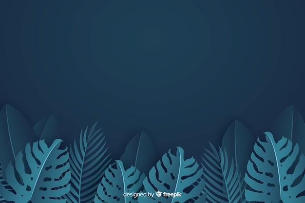 紙のスタイルで背景モンステラ植物