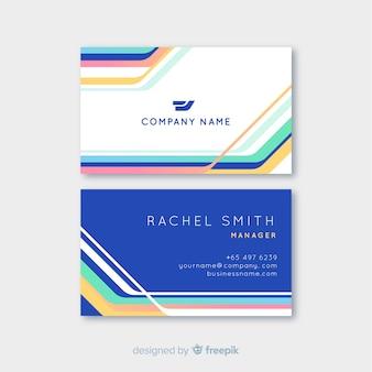 Красочный шаблон визитной карточки с логотипом