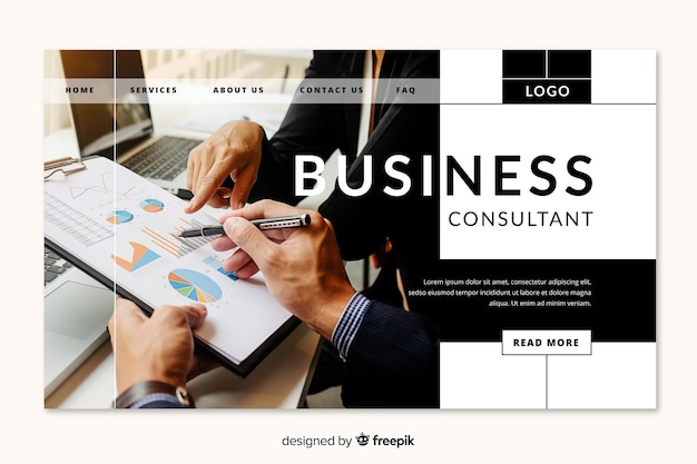 ビジネスコンサルタントのランディングページ